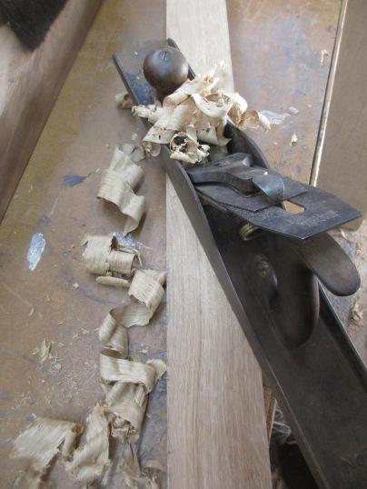 I love making ribbons of oak!